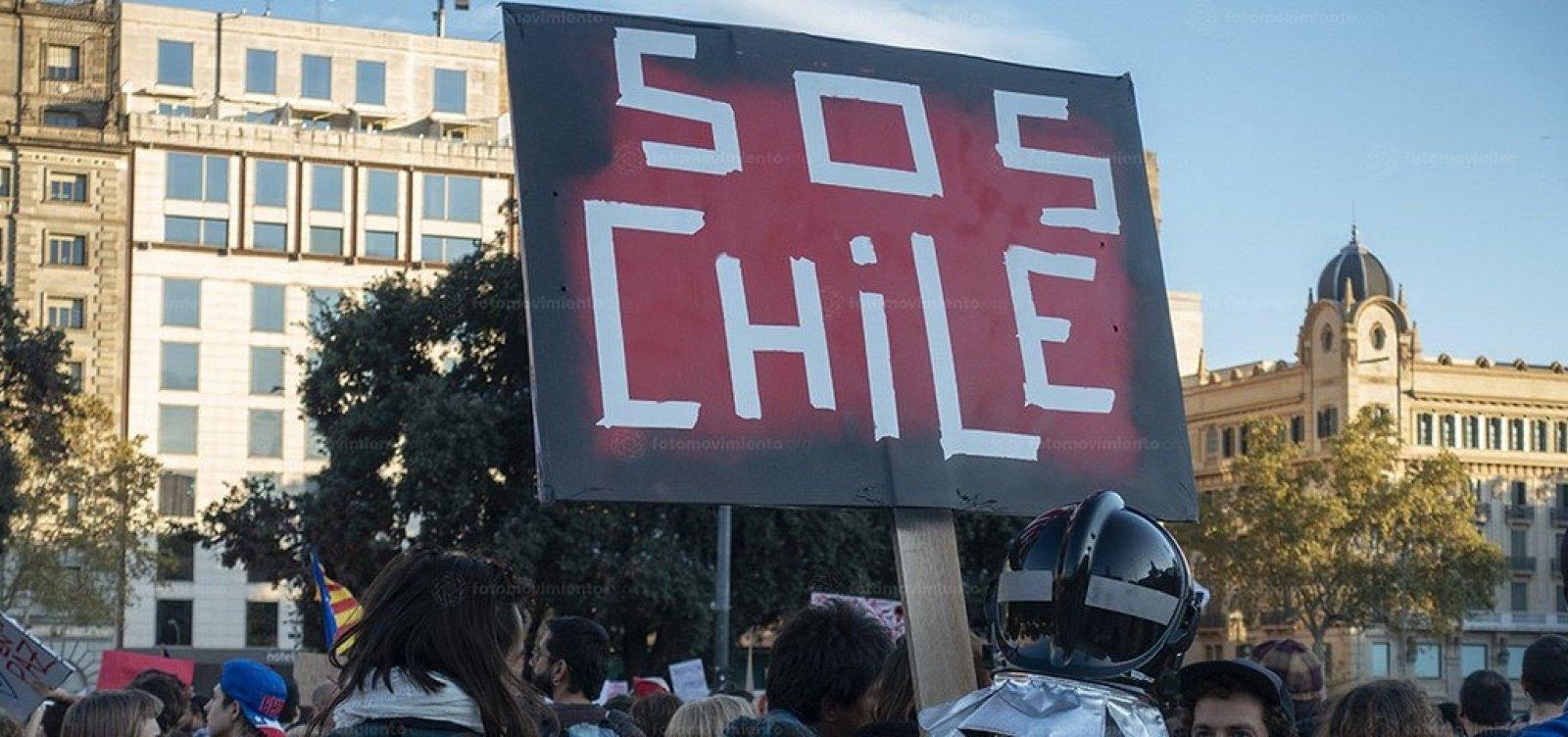 [Presidente do Chile garante que não vai renunciar ao cargo]