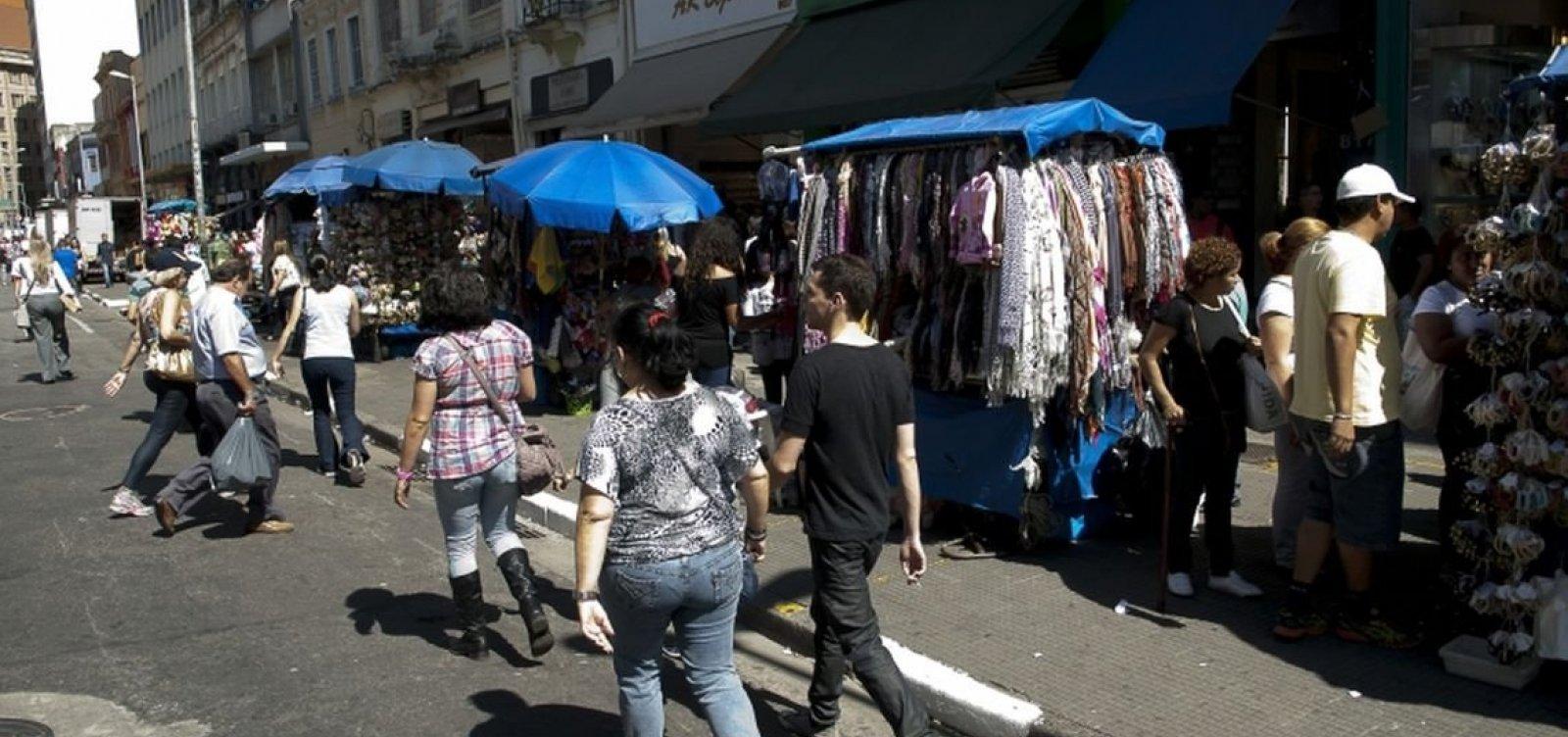 [Informalidade cresce na Bahia e bate recorde em Salvador, diz IBGE]