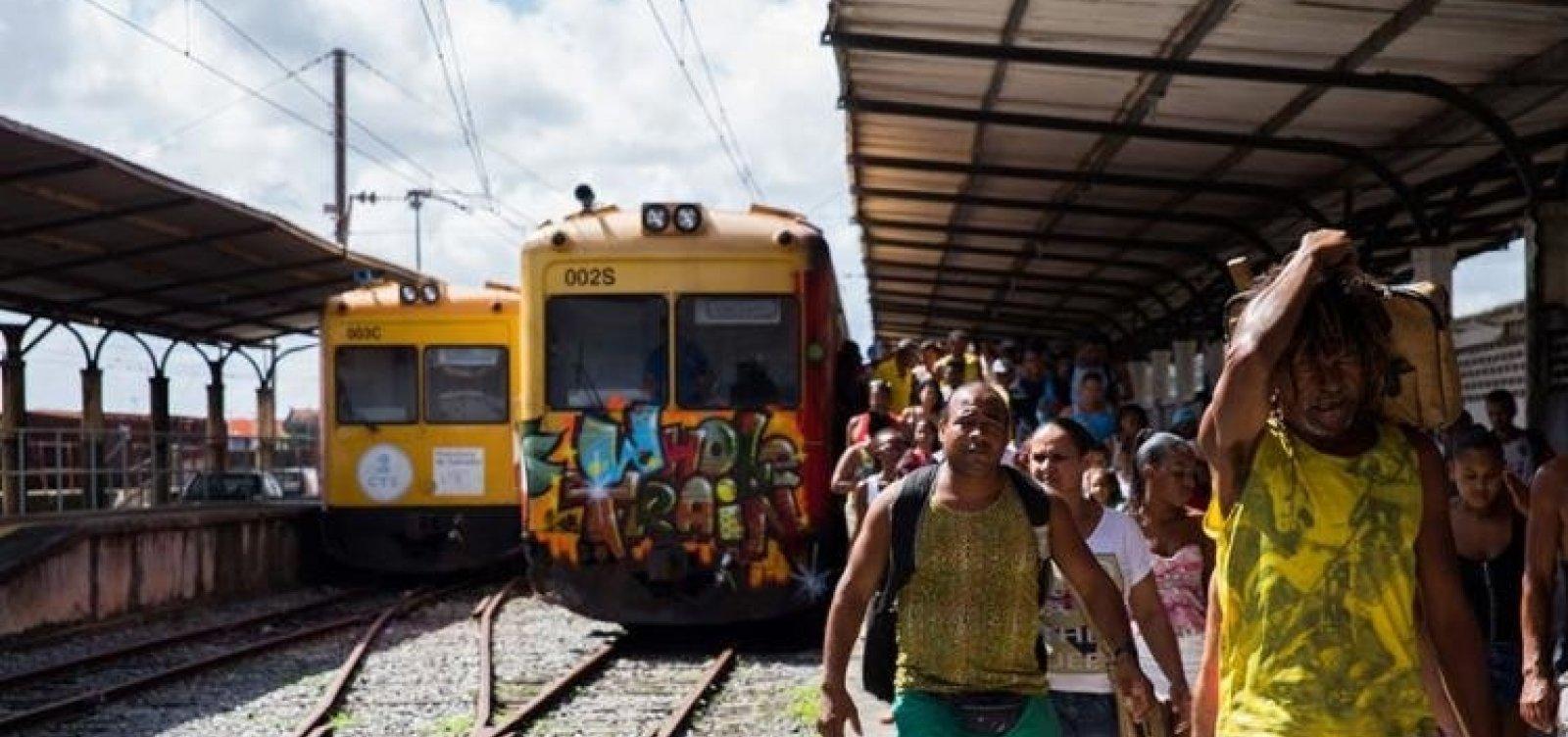 [Funcionamento dos trens do Subúrbio fica suspenso após acidente e manutenção]
