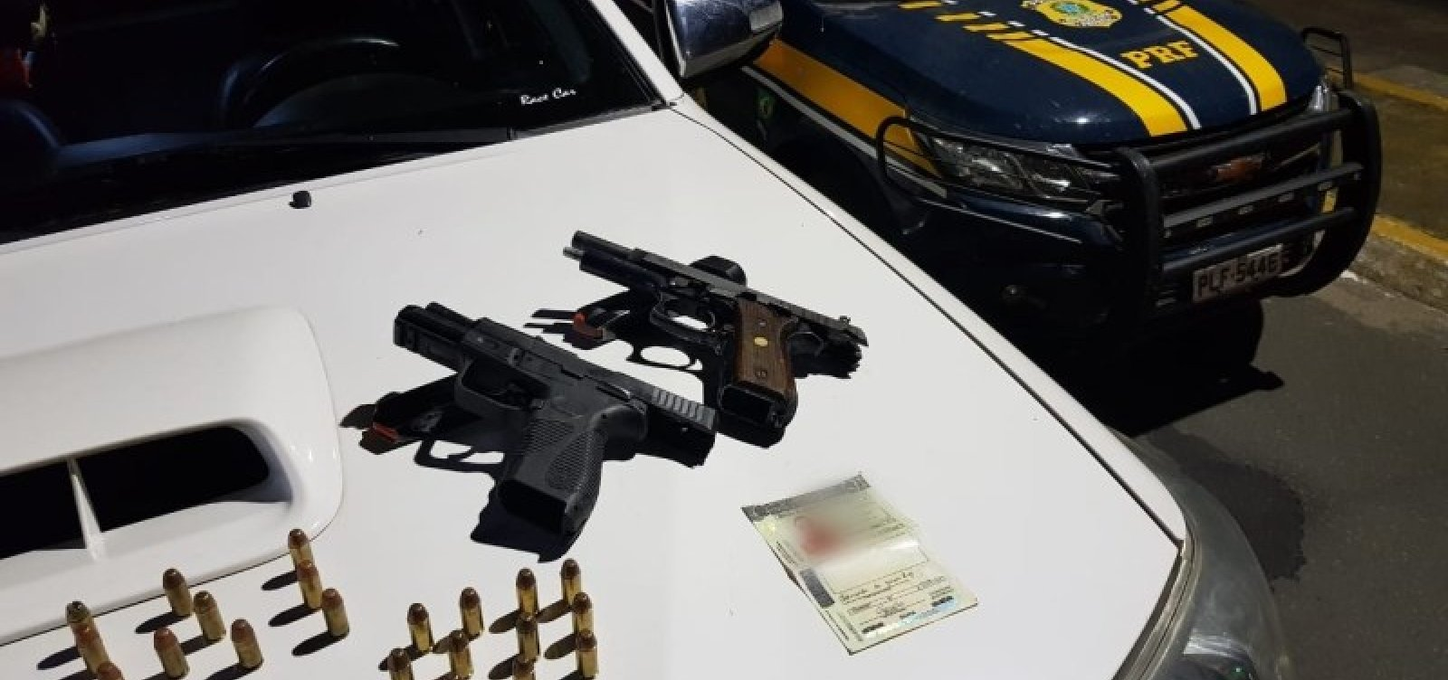 [Após abordagem, PRF apreende armas e munições; suspeitos conseguiram fugir]