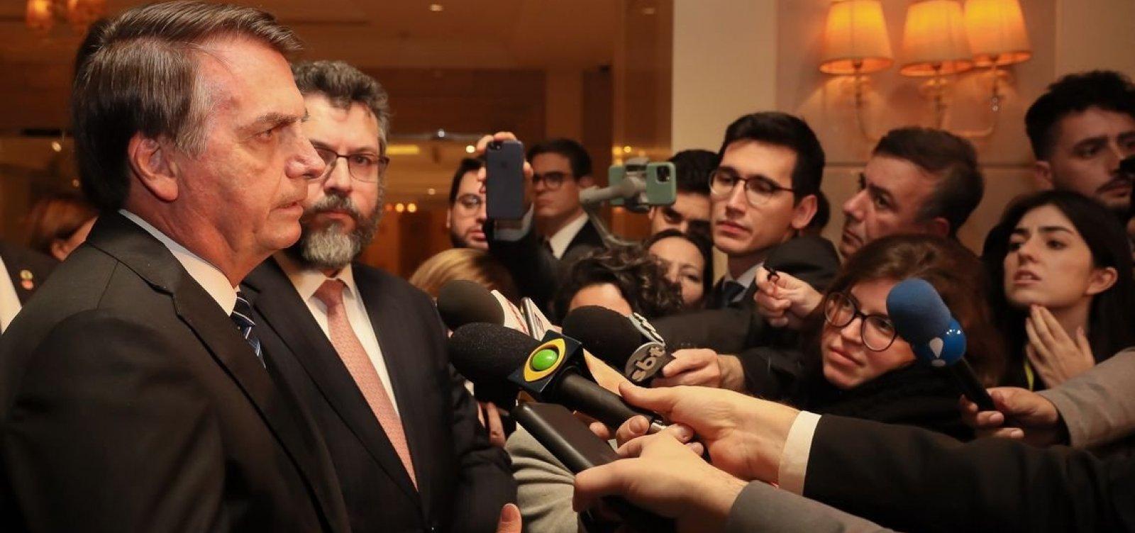 [Após soltura de Lula, Bolsonaro cancela entrevista em Goiânia]