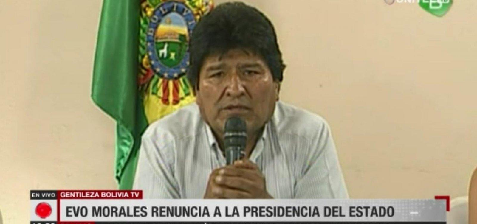 [Evo Morales renuncia à presidência da Bolívia]