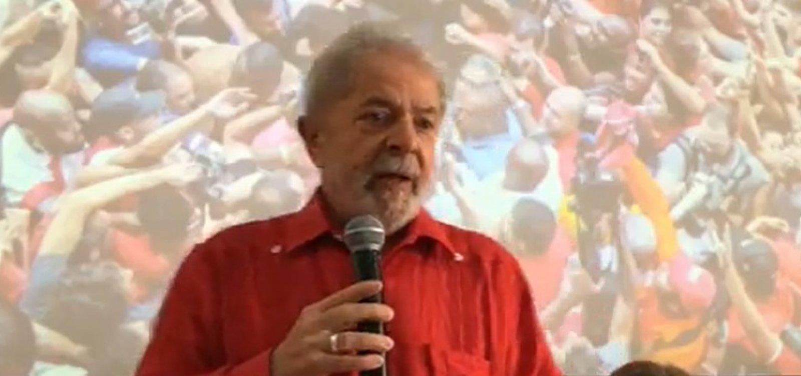 [Lula: 'Posso subir a rampa do Alvorada com Haddad, com Rui']