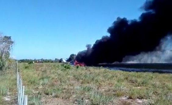 [Aeronave cai em pista de pouso de resort em Maraú, na Bahia; veja vídeo]