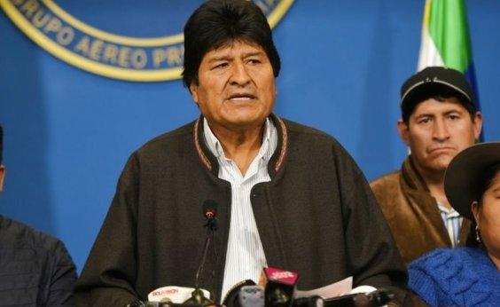 [Morales denuncia crimes contra a humanidade na Bolívia]