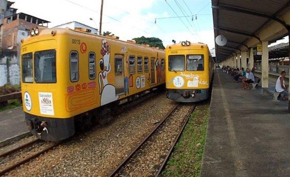 [Sistema ferroviário opera apenas com um trem]