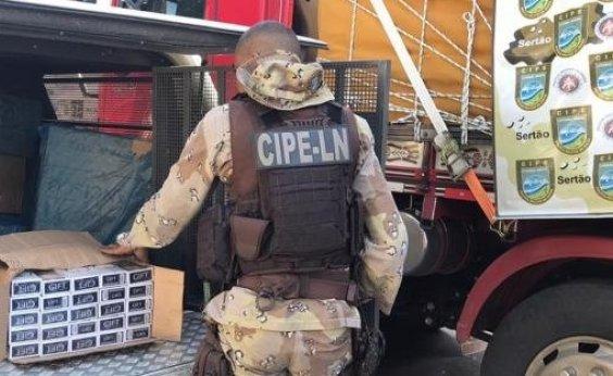 [Polícia apreende duas toneladas de cigarro no centro-norte da BA]