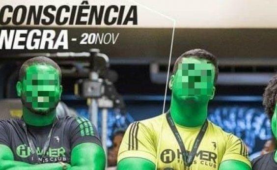 [Academia de Salvador 'pinta' funcionários de verde em dia da Consciência Negra: 'Alma não tem cor']