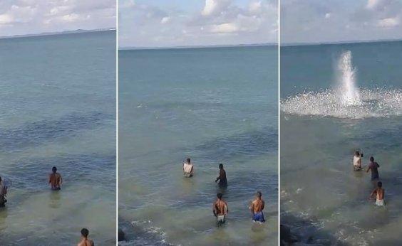 [Vídeo: Morador de Itaparica denuncia pesca com bomba na ilha]
