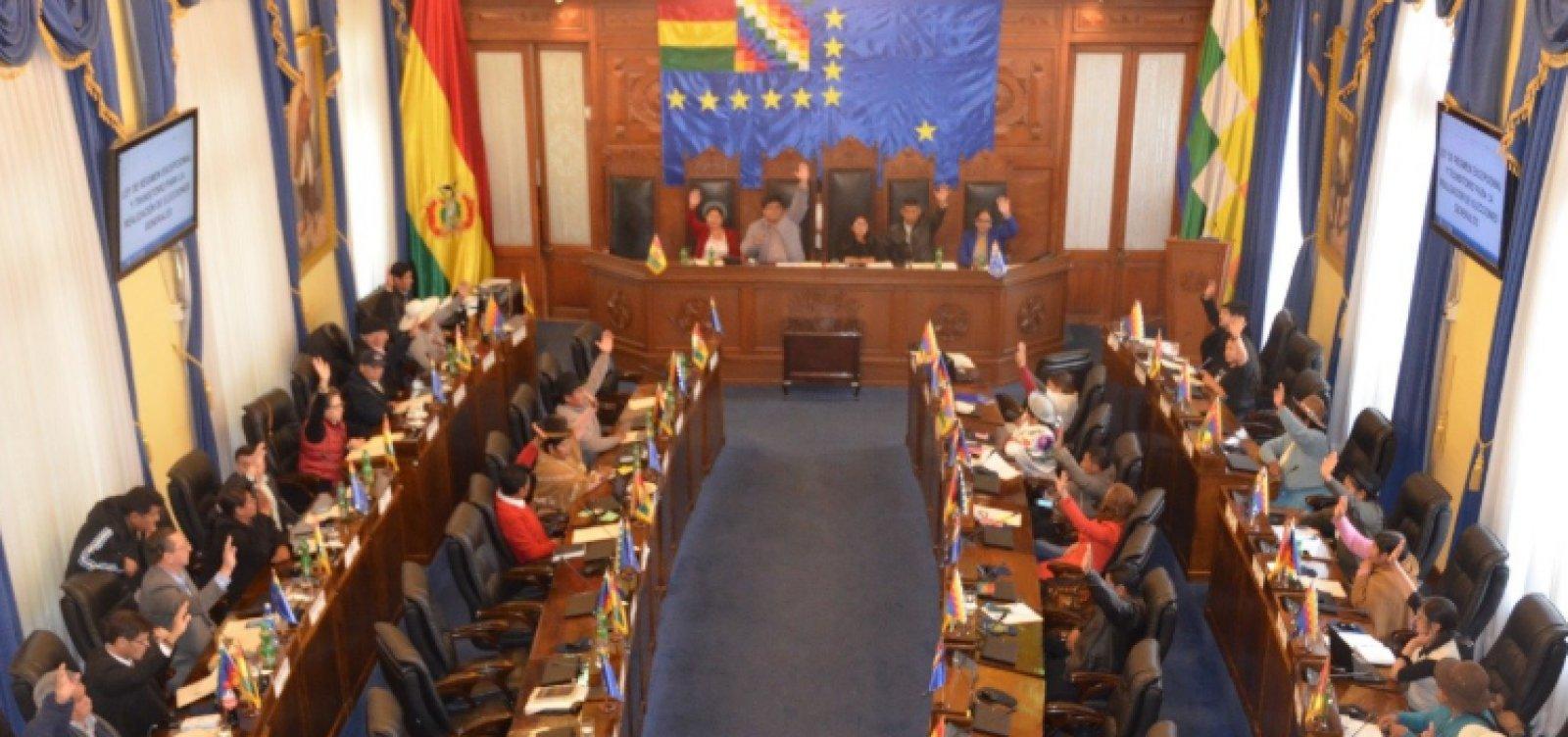 [Senado aprova por unanimidade novas eleições na Bolívia]