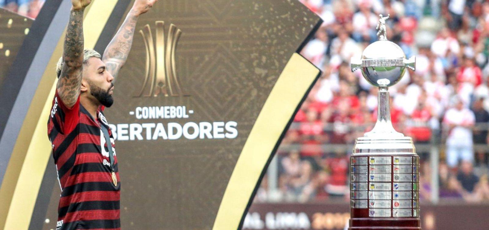 [Autor dos gols do título do Flamengo, Gabigol celebra: 'Momento histórico']