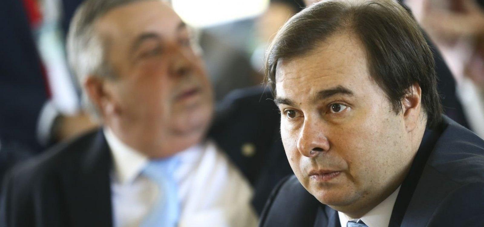 [Rodrigo Maia diz que Câmara já definiu qual proposta para prisão em 2ª instância será discutida]