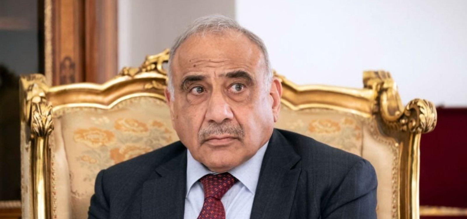 [Parlamento do Iraque aceita pedido de renúncia do primeiro-ministro]