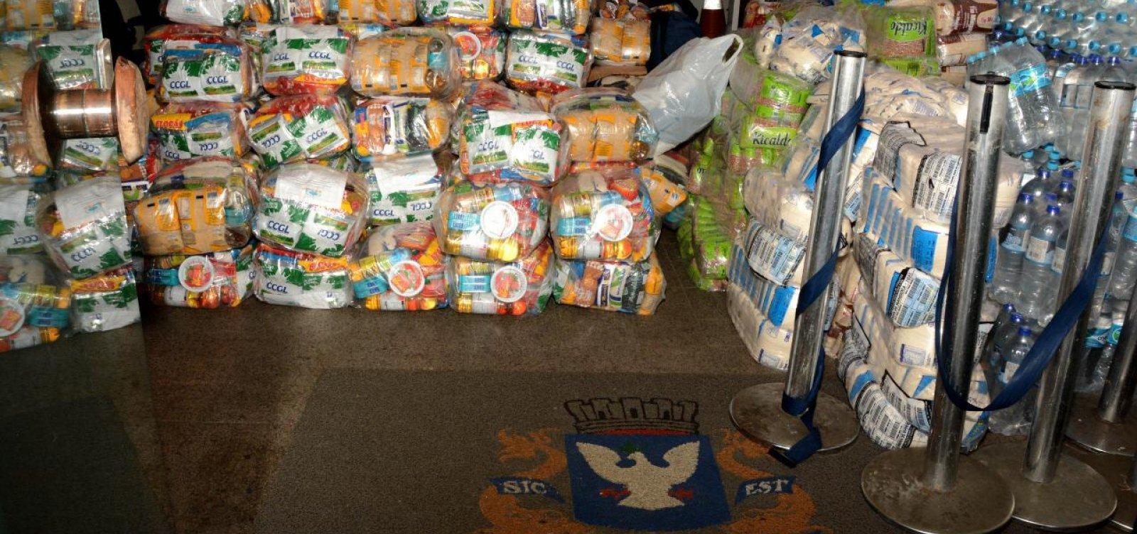 [Câmara Municipal realizará entrega de mais de uma tonelada de alimentos]