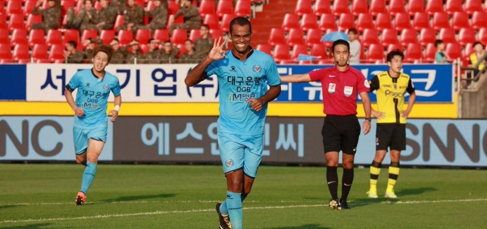 [Atacante baiano é maior artilheiro do futebol sul-coreano pelo segundo ano consecutivo]