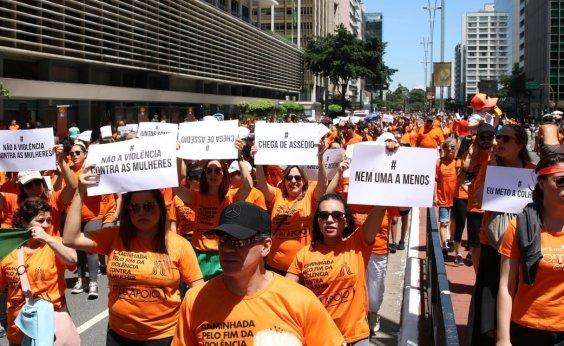 [Marcha pelo fim da violência contra mulheres acontece em 26 cidades brasileiras]