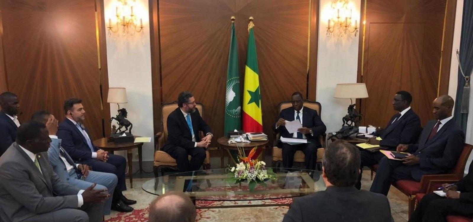 [Governo convida presidente do Senegal a visitar o Brasil em 2020]