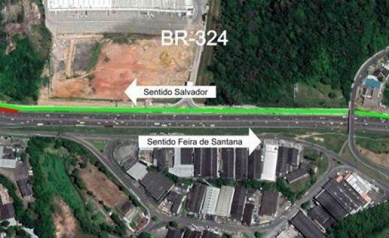 [Acesso da BR-324 a bairros de Salvador é alterado; condutores precisam utilizar nova via marginal]
