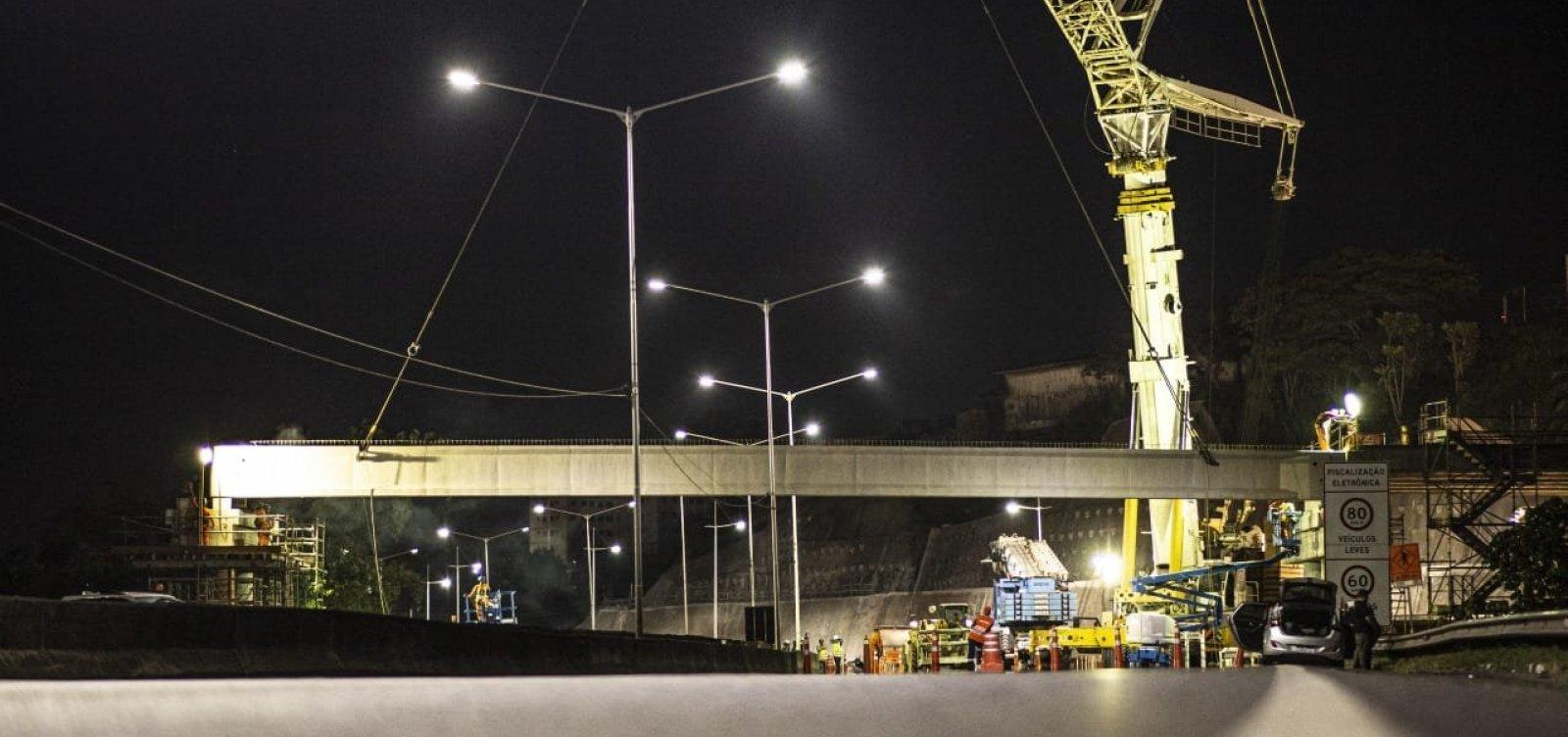 [Obras alteram tráfego de veículos na BR-324 entre os viadutos de Pirajá e da Brasilgás]