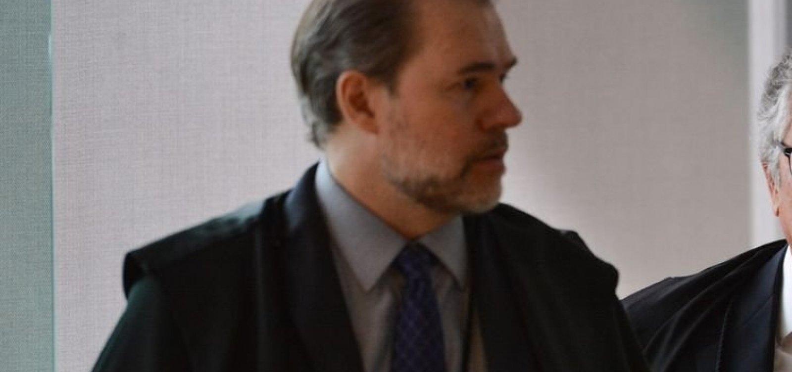 [Toffoli nega analisar recurso contra afastamento do presidente do TJ-BA]