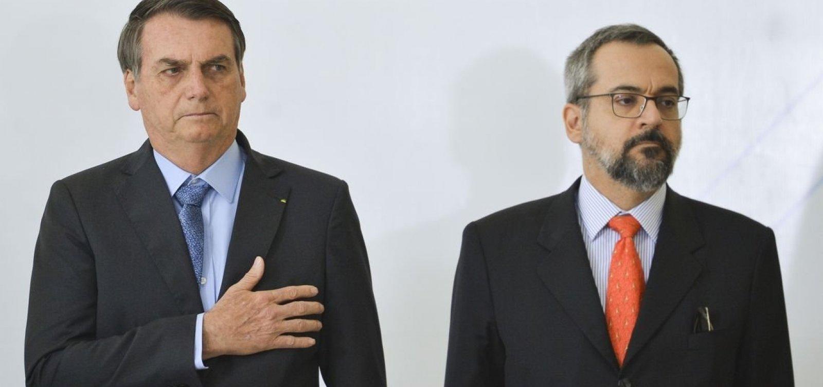 [Bolsonaro não acredita em 'erro' de Weintraub por compartilhamento de crítica ao presidente]