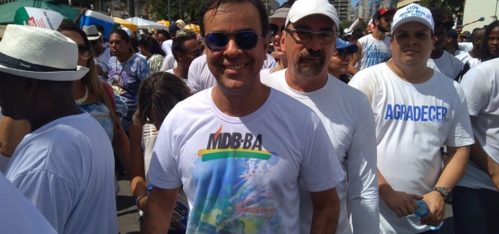 [Presidente do MDB na Bahia diz que conversas com Geraldo Jr. estão avançadas: 'Só depende dele']