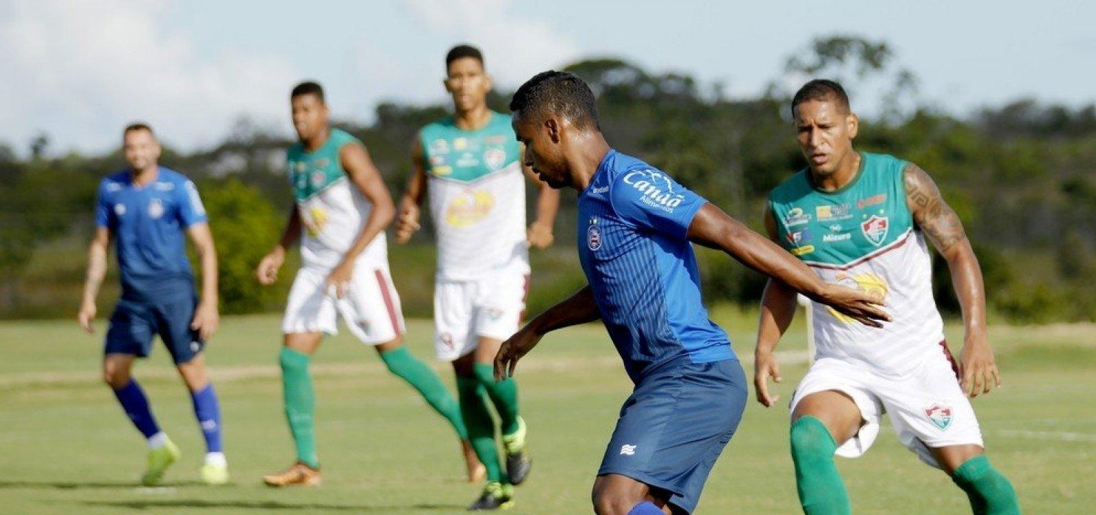 [Em primeiro jogo-treino de 2020, time principal do Bahia perde por 1x0 para o Flu de Feira]