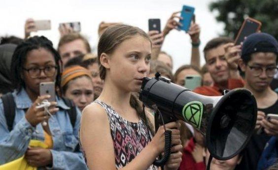 """[""""Vocês não viram nada ainda"""", diz Greta Thunberg antes de Davos]"""
