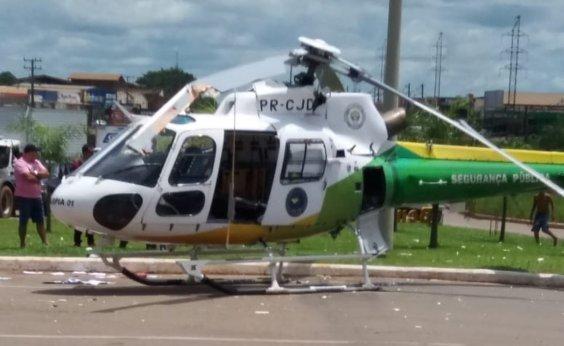 [Hélice de helicóptero do Ciopaer bate em caminhão ao iniciar decolagem em Rio Branco]