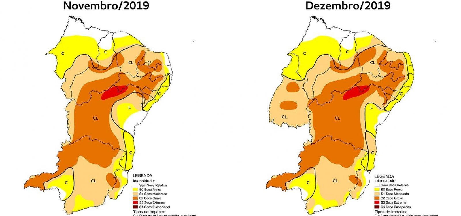 [Monitor aponta aumento da gravidade da seca e da área com fenômeno na Bahia]