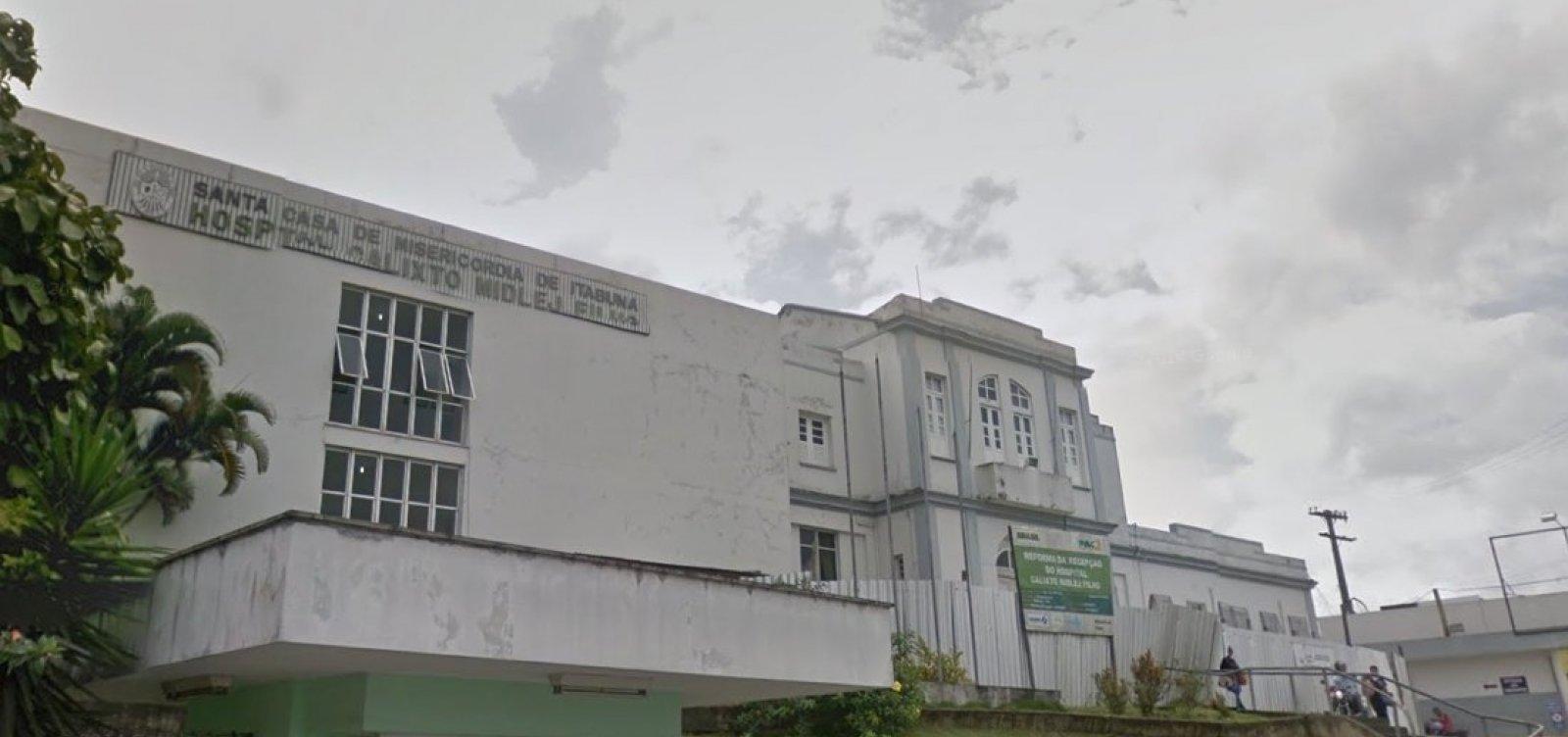 [Em protesto contra salários atrasados, funcionários da Santa Casa de Itabuna entram em greve]