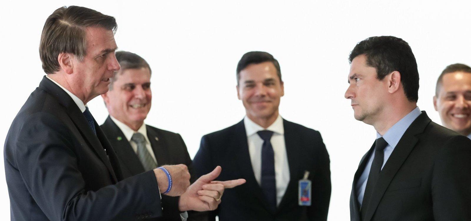 [Bolsonaro recua e descarta possibilidade de desmembrar ministério comandado por Moro]