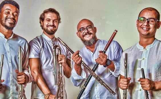 [Quarteto de Flautas da Bahia se apresenta neste sábado na Casa Boqueirão]