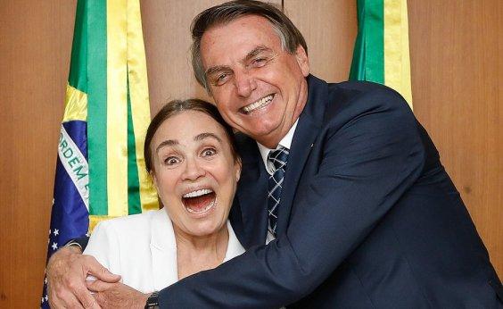 ['Quarta ou quinta', diz Bolsonaro sobre 'casamento' com Regina Duarte]