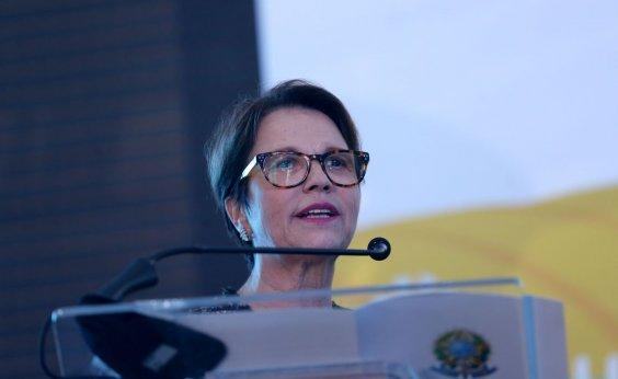 [Ministra Tereza Cristina diz que agricultura não pode ser tratada como vilã]