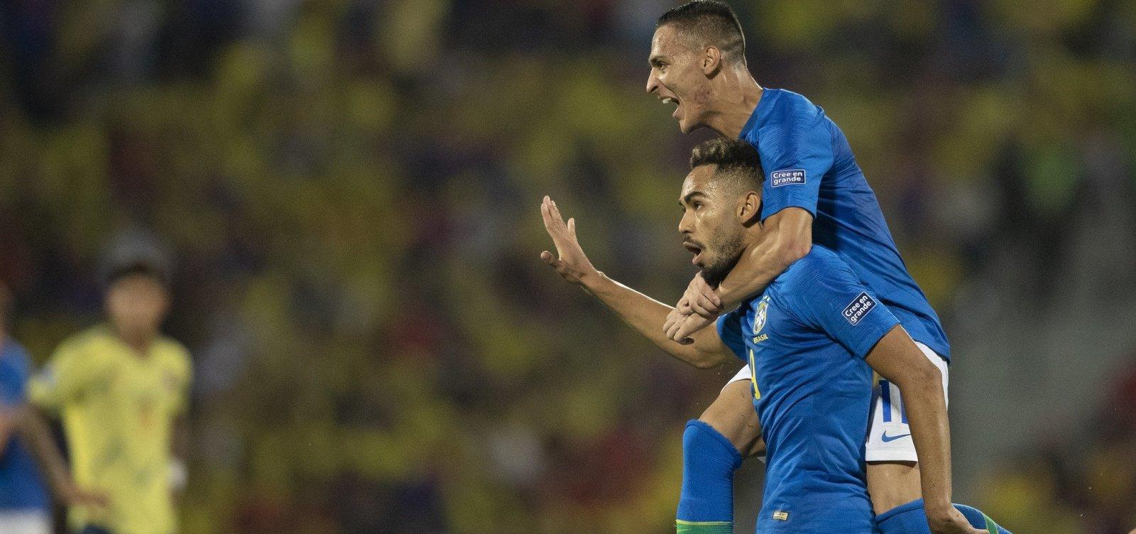 [Brasil leva susto, mas arranca empate da Colômbia em primeiro jogo da fase final do Pré-Olímpico]