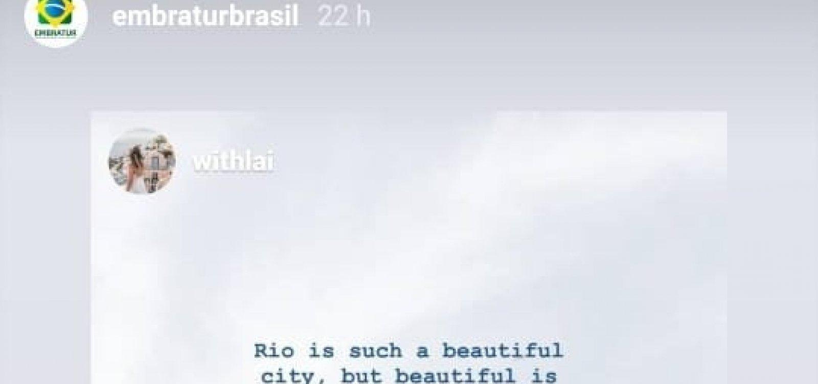 [Embratur republica relato negativo de turista sobre o Rio: 'Senti medo de sair do apartamento']