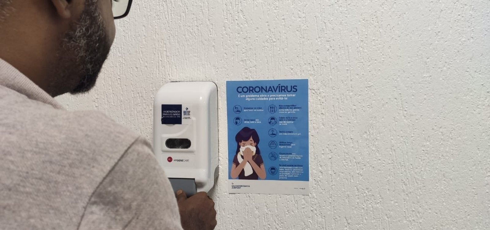 [Aeroporto de Salvador e Anvisa apresentam plano de contingência ao coronavírus]