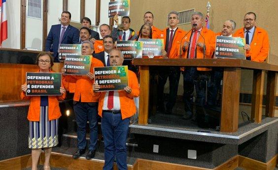 [Deputados fazem ato na AL-BA em apoio à greve dos petroleiros]