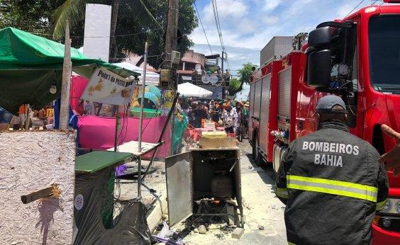 [Mudança do Garcia: Carrinho de pastel pega fogo e bombeiros combatem incêndio]