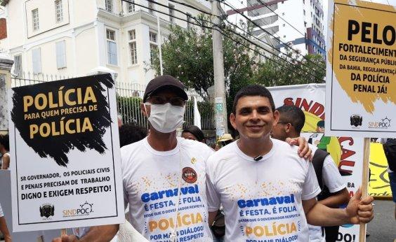 [Policiais penais e civis pedem diálogo com o governo do Estado durante Mudança do Garcia]