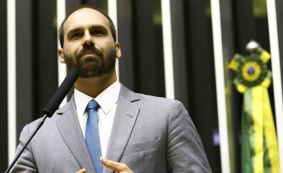 [Eduardo Bolsonaro chama Kannário de vagabundo: 'Ainda há quem vá curtir um bloco de um cara desse']