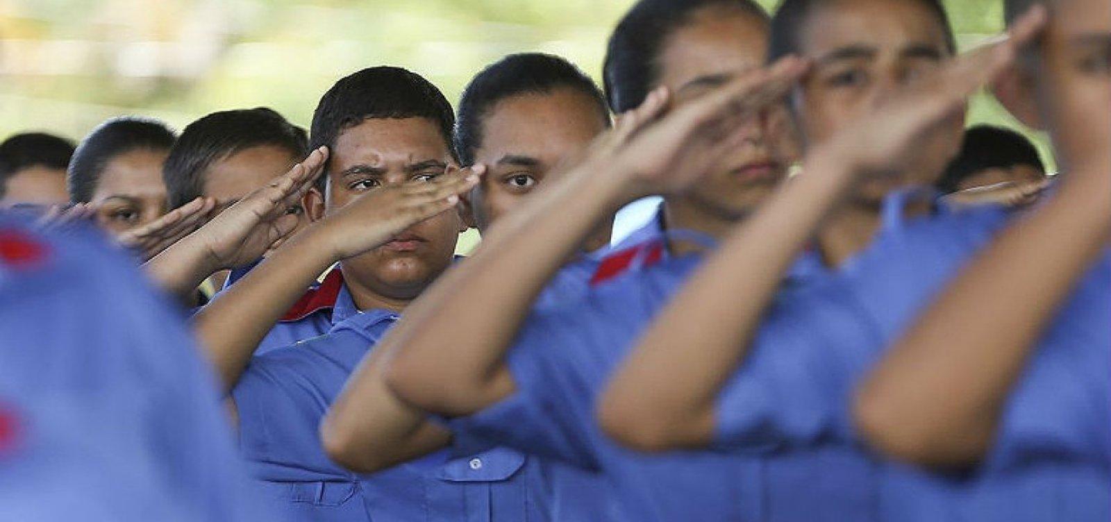 [Primeira escola cívico-militar da Bahia será em Feira e começa a funcionar neste ano]