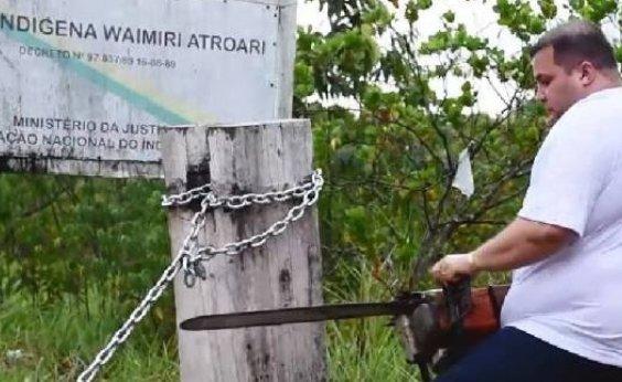 [MPF estuda ação contra deputado que derrubou bloqueio em área indígena]