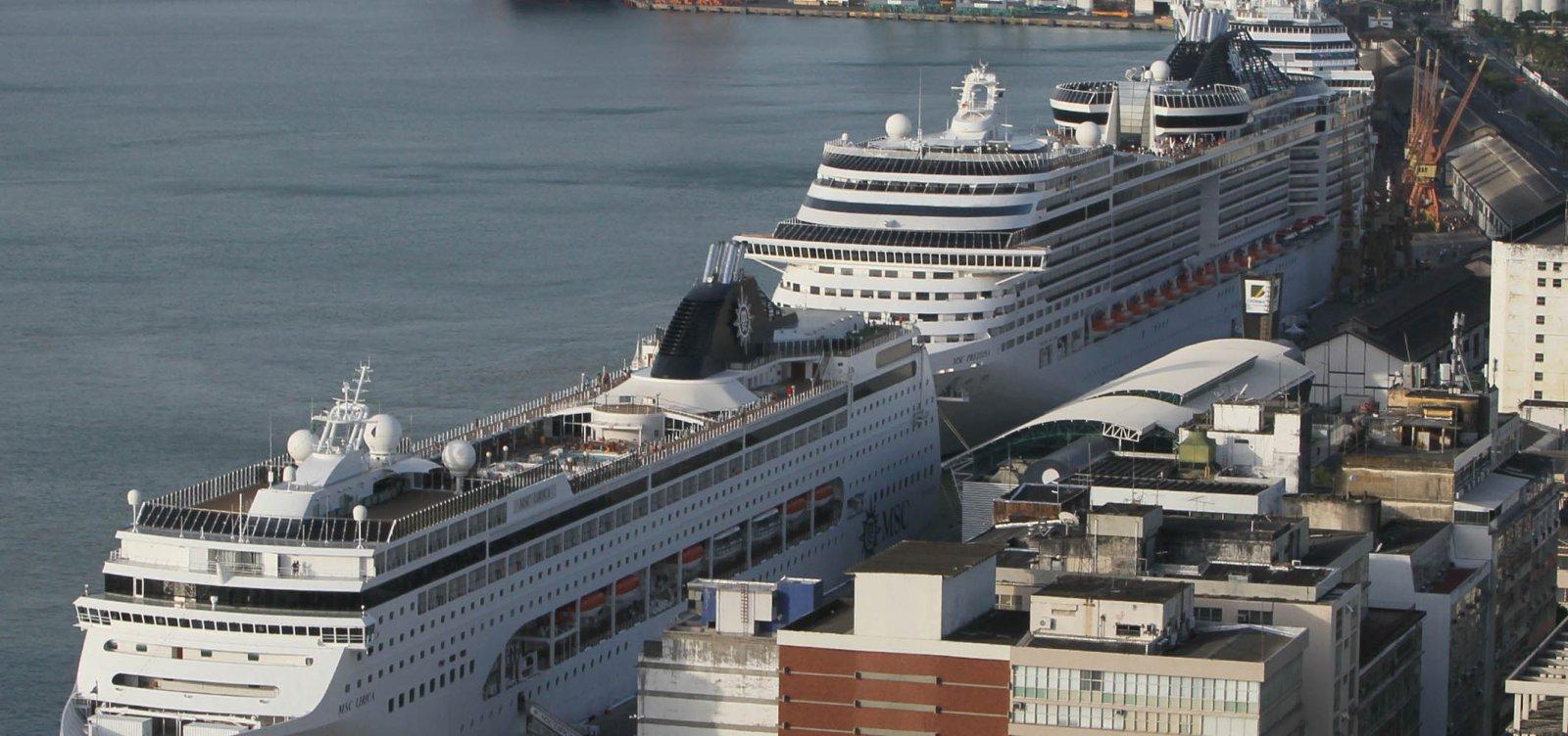 [Coronavírus: Governo suspende atracação de navios de cruzeiros na Bahia]