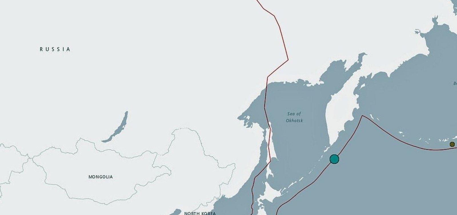 [Forte terremoto atinge mar das Ilhas Curilas, na Rússia]