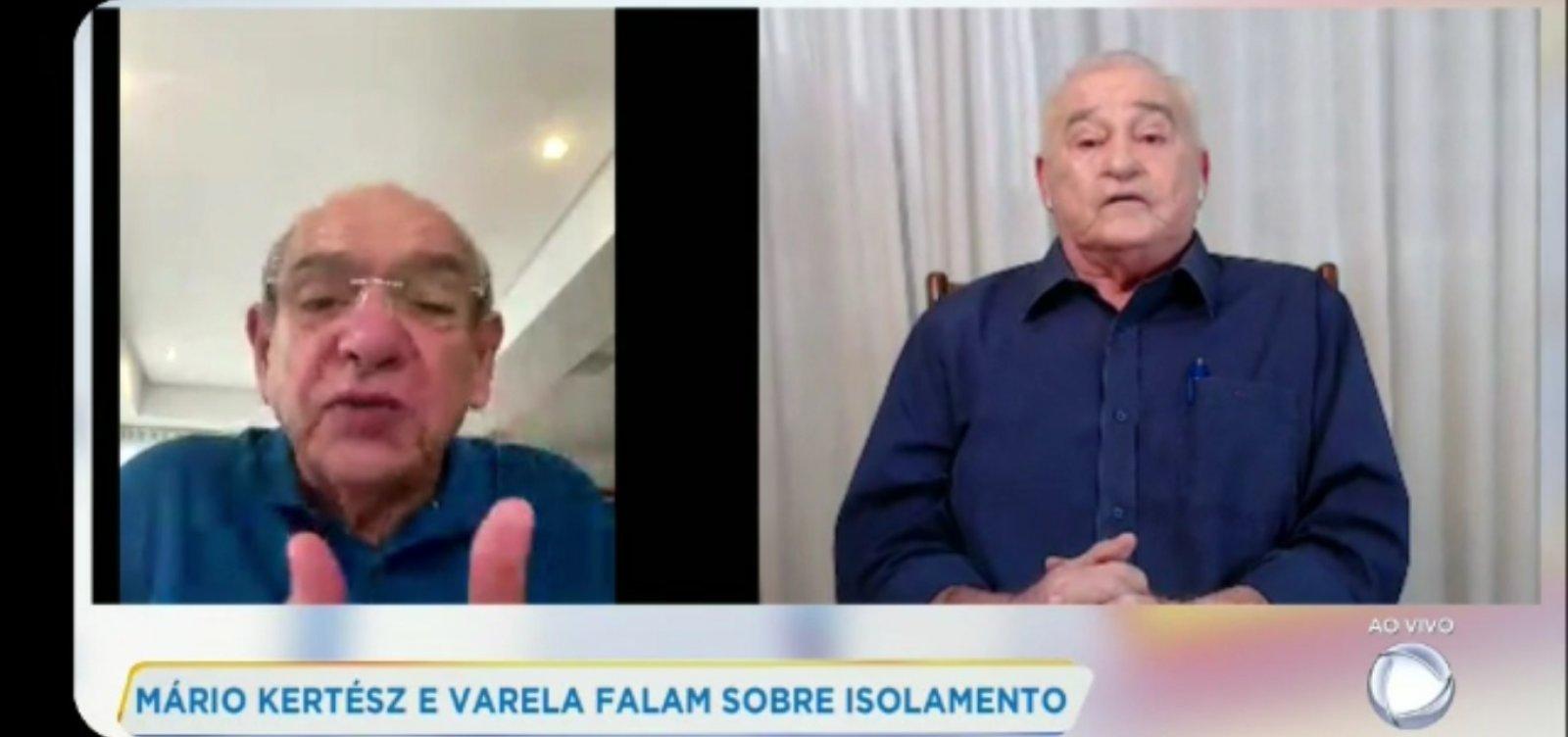 [Mário Kertész e Raimundo Varela fazem transmissão conjunta e defendem isolamento social]
