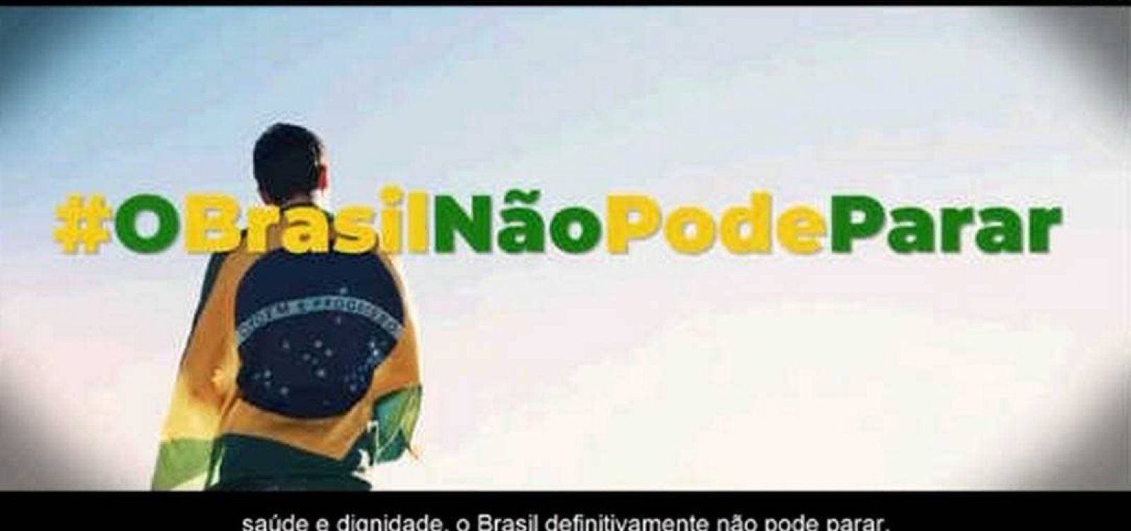 [Contratada sem licitação, campanha 'Brasil Não Pode Parar' vai custar R$ 4,8 milhões]