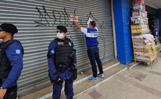 [Força-tarefa da Prefeitura interdita 28 estabelecimentos no fim de semana]