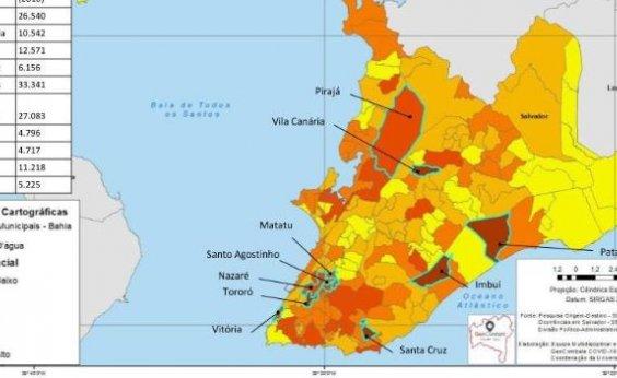 [Estudo aponta quais bairros de Salvador terão disseminação acelerada do coronavírus]